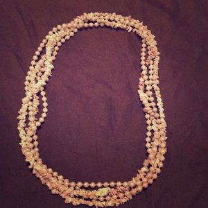 VINTAGE BOHO GYPSY PEARL&SHELL LAYERING NECKLACES